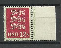 ESTLAND Estonia 1928 Michel 80 (dickes Papier) Mit Bogenrand MNH - Estland