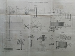 ANNALES DES PONTS Et CHAUSSEES - Plan D'un Moulinet Intégrateur électrique - Graveur E.Pérot 1883 (CLD63) - Máquinas
