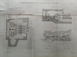 ANNALES DES PONTS Et CHAUSSEES (Dep 34) - Plan D'un Moulinet Intégrateur électrique - Graveur E.Pérot 1883 (CLD64) - Zeekaarten