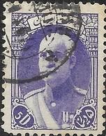 1938 Riza Sh Ah Pahlavi - 5d - Violet FU - Iran