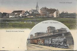 AVRICOURT - ALLEMAND -  DEUTSCH- AVRICOURT KOLONIEN-  LA GARE DER BAHNHOF- CARTE COLORISEE - Autres Communes