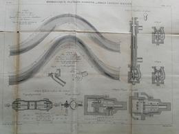 ANNALES DES PONTS Et CHAUSSEES (Dep 31) - Plan Hydraulique Fluviale De La Garonne - Graveur E.Pérot 1882 (CLD66) - Cartes Marines