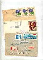 2 Lettre + 1 Recommandee Budapest à Voir - Marcophilie