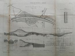 ANNALES DES PONTS Et CHAUSSEES (Dep 02) - Plan De La Ligne De Busigny à Hirson - Graveur E.Pérot 1883 (CLD67) - Zeekaarten