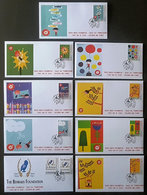 Greece 2019 Children And Stamps Unofficial FDC From The Self-adhesive Booklet Nine Different Covers - FDC