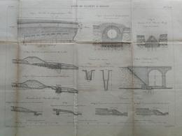 ANNALES DES PONTS Et CHAUSSEES (Dep 02) - Plan De La Ligne De Busigny à Hirson - Graveur E.Pérot 1883 (CLD68) - Nautical Charts