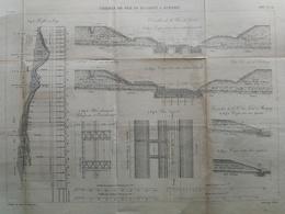 ANNALES DES PONTS Et CHAUSSEES (Dep 02) - Plan Du Chemin De Fer De Busigny à Hirson - Graveur E.Pérot 1883 (CLD69) - Machines