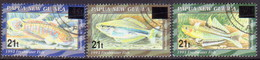 PAPUA NEW GUINEA 1995 SG #759-61 Compl.set Used Provisional Surcharges - Papouasie-Nouvelle-Guinée