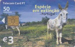 Télécarte à Puce PORTUGAL - Animal - ANE / 2 Scans - DONKEY Chip Phonecard - ESEL Telefonkarte - Télécartes