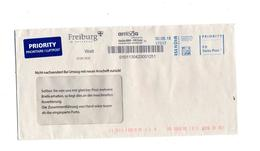 Lettre P P Port Paye Swiss Post + Arriva Fribourg - Poststempel