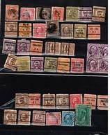 Lot Etats-Unis Anciens Timbres à Identifier - Briefmarken