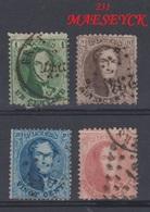 Belgique - 1863 - Obl. - COB 13A, 14A, 15A, 16A - 12 ½ X 13 ½ - - 1849-1865 Medallions (Other)