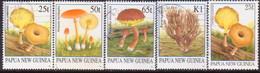 PAPUA NEW GUINEA 1995 SG #762-65a Compl.set+var Used Fungi - Papua New Guinea