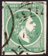~~~ Spain Carlista 1874 - Carlos VII - Ed. 160 Used (o)  ~~~ - Carlisten