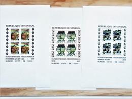 SENEGAL 1979 Tableaux F.HUNDERTWASSER Bloc 34-36 YVERT 524/26 03 Epreuves De Luxe Numérotées - Senegal (1960-...)