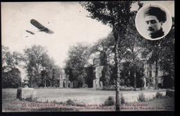 28, La Ferte Vidame, Grande Journee D'aviation Dans Le Parc Du Chateau, L'aviateur Garros Au Dessus Des Ruines De L'anci - France