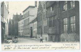 Brugge - Bruges - La Facade De La Maison De Bois, Rue De L'Equerre - M. Marcovici, Edit. - 1905 - Brugge