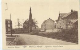 Melreux-Hotton - L'Eglise Et La Place St-Pierre - Edit Hôtel Des Etrangers Et Maison Preud'homme - Hotton