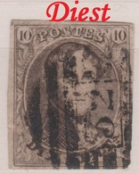 RéfP. 119 - Belgique - 1858 - Obl. - COB 10 - 32 Diest -  Brrrrrrrr  - - 1858-1862 Medaillons (9/12)