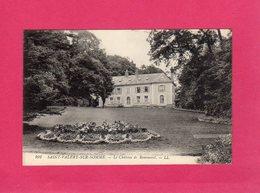 80 Somme, SAINT-VALERY-SUR-SOMME, Le Château De Rommerel, Parc, Massif De Fleurs, (L. L.) - Saint Valery Sur Somme