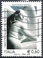 Italia, 2009 Giacomo Manzù, €.0.60 # Sassone 3144 - Michel 3353 - Scott 2978  USATO - 6. 1946-.. Repubblica