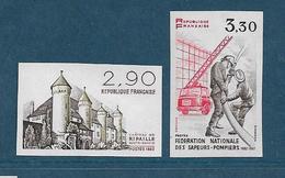 France Timbre De 1982 N°2232/33 Non Dentelé Neufs ** Gomme Parfaite Cote 40€ - Frankreich