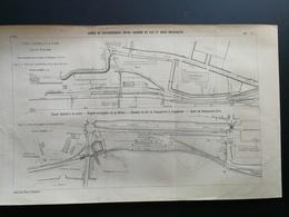 ANNALES DES PONTS Et CHAUSSEES - Plan Des Gares De Raccordement Entre Chemins De Fer Et Voies Navigables - 1903 (CLD72) - Máquinas