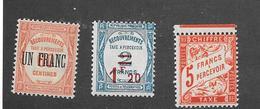 France: Timbres-taxe Neufs  N°63-64-* 66 **( - 1859-1955 Neufs