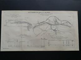 ANNALES DES PONTS Et CHAUSSEES - Plan Des Gares De Raccordement Entre Chemins De Fer Et Voies Navigables - 1903 (CLD74) - Máquinas