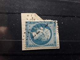 Empire No 22 Obl GC 2202 De MARCILLAC D' AVEYRON, Aveyron ,  Indice 6 Sur Fragment TB - 1862 Napoleon III