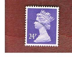 GRAN BRETAGNA (UNITED KINGDOM) -  SG X967   -  1984 QUEEN ELIZABETH II  24  VIOLET  - USED° - 1952-.... (Elisabetta II)