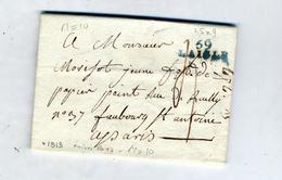 Lettre Cachet 59 Laigle + Juillet 1813 - 1801-1848: Precursors XIX