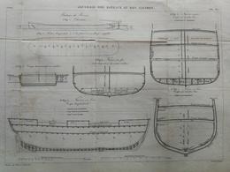 ANNALES DES PONTS Et CHAUSSEES - Plan De Jaugeage Des Bateaux Et Des Navires - Graveur Macquet 1887 (CLD75) - Cartes Marines