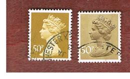 GRAN BRETAGNA (UNITED KINGDOM) -  SG X921.922   -  1990 QUEEN ELIZABETH II  50 ( DIFFERENT 50, LITTLE & LARGE)  - USED° - 1952-.... (Elisabetta II)