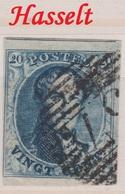 RéfP. 146 - Belgique - 1849-50 - Obl. - COB 4 - 57 Hasselt  - - 1858-1862 Medallions (9/12)