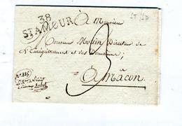 Lettre Cachet 38 Saint Amour 3 Decimes - Marcophilie (Lettres)