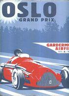 TARGA IN METALLO GP OSLO 30X25 GARDERMOEN AIRFIEL F1 AUTOMOBILISMO MOTOR RACe - Cars