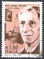 Italia, 2009 Don Sturzo 1.50 € # Sassone 3122 - Michel 3331 - Scott 2962 USATO - 6. 1946-.. República