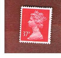 GRAN BRETAGNA (UNITED KINGDOM) -  SG X990 -  1989 QUEEN ELIZABETH II  37   RED - USED° - 1952-.... (Elisabetta II)