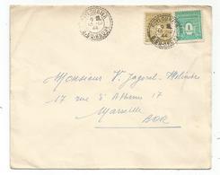 ARC TRIOMPHE 1FR+50C LETTRE FACTEUR BOITIER PUYLOUBIER 13.12.1944 AU TARIF - 1944-45 Arc De Triomphe