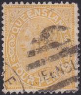 Queensland      .   SG  .     194    .    O     .     Cancelled   .   /    .  Gebruikt - 1860-1909 Queensland