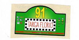 ADESIVO STICKER 91 TARGA FLORIO RALLY 2007 RRR MAXI 9X18 - Stickers