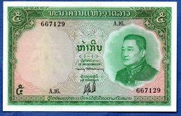 Laos  -  5 Kip  - Sign 5  - Pick # 9  -  état   UNC - Laos