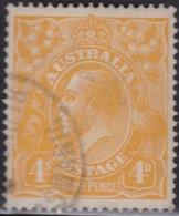 Australia    .   SG    .     22c          .    O      .    Cancelled    .   /    .   Gebruikt - 1913-36 George V : Hoofden