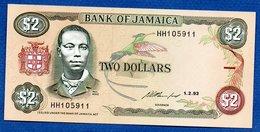 Jamaique -  2 Dollars 1/2/93    - Pick # 69  -  état   UNC - Jamaica