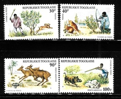 Togo 1975 Hunting Rabbit Beaver Deer MNH - Togo (1960-...)