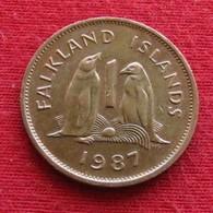 Falkland  Islands 1 One Penny 1987 KM# 2  Lt 700  Malvinas Malwinen - Falkland Islands