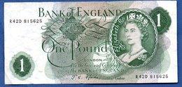 Grande- Bretagne  - 1 Pound    - Pick # 374 E  -  état   TTB - 1952-… : Elizabeth II