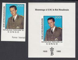 Republique Du Congo 1993-Brazzaville - Timbre Neuf Sans Charnière + Bloc. Roi Baudouin (EB) DC-2853 - Brazzaville