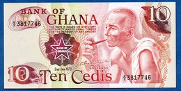 Ghana  - 10 Cedis 2/1/1978    - Pick # 16 F  -  état  UNC - Ghana